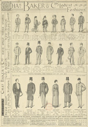 Advert For Charles Baker & Co, Clothing Stores reverse